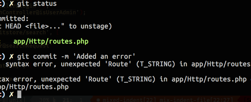 PHP Lint has got  your back